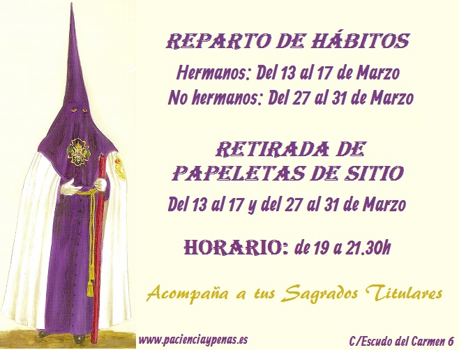 cartel reparto habitos