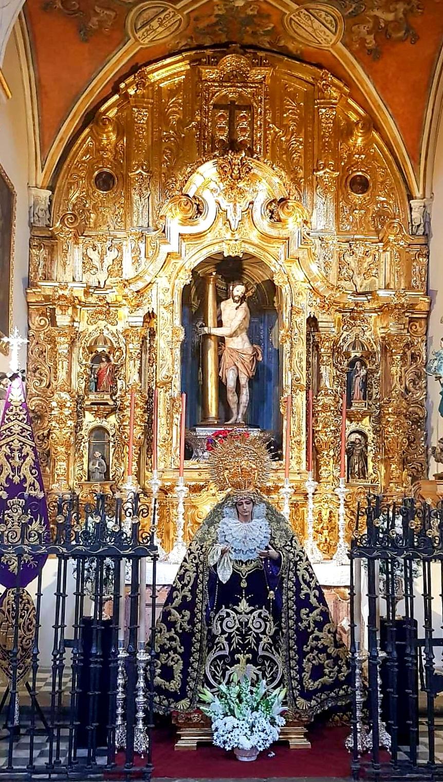 Nuestros Sagrados Titulares, en su capilla