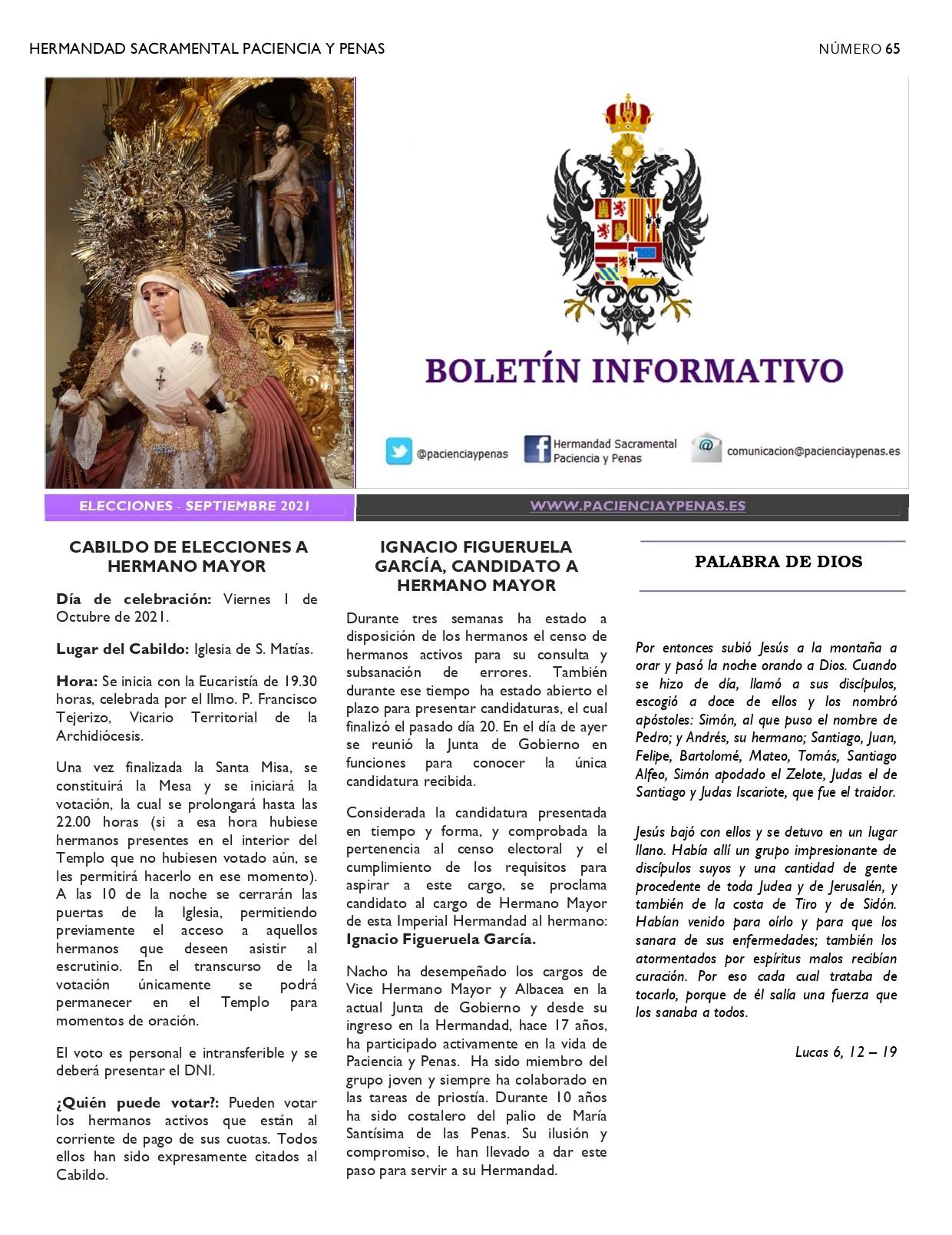 Boletín informativo Septiembre 2021